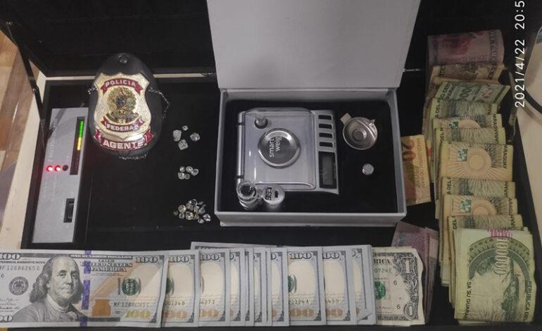 Três pessoas são presas pela PF em RO com diamantes que seriam levados para o exterior