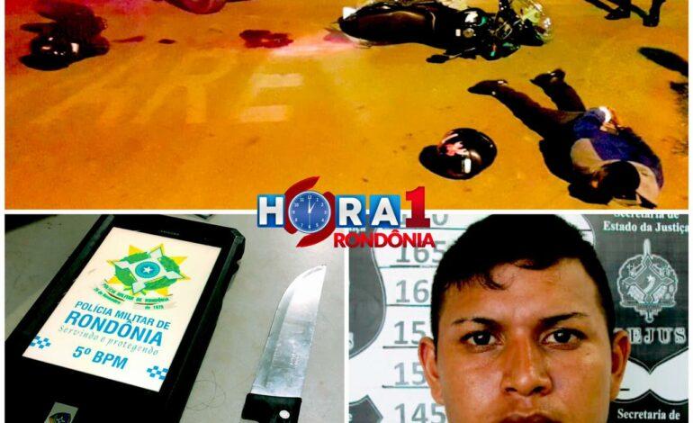 Suspeito de roubos morre ao ser baleado após sacar faca durante abordagem da Polícia