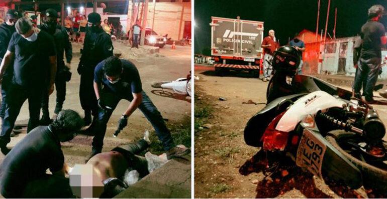 Motociclista morre tragicamente após se envolver em segundo acidente de trânsito