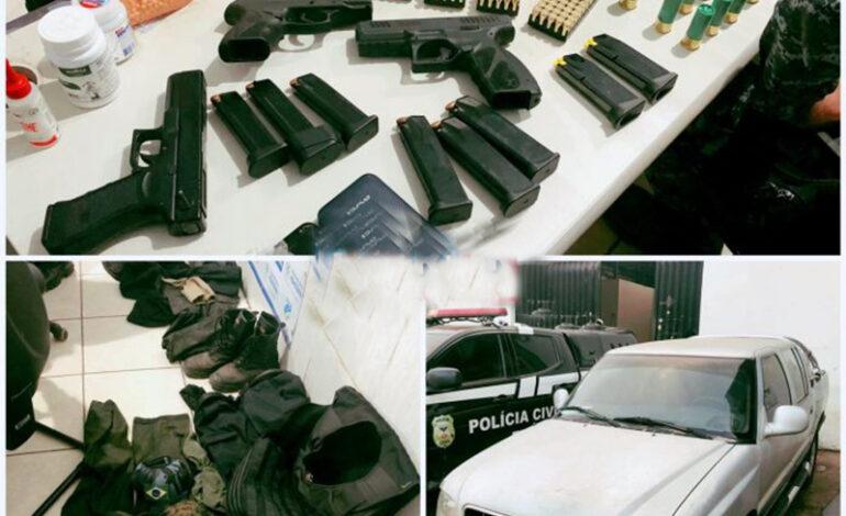 CAC: Homem que se passava por policial e preso com armas e munições após furto de caminhonete