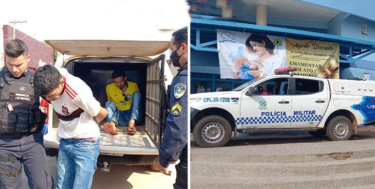 Apenados de tornozeleira eletrônica são presos após roubarem moto e uma arma de vigilante na maternidade