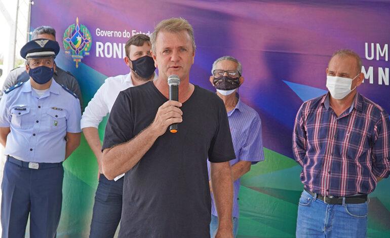Deputado Luizinho Goebel participa da entrega das obras de revitalização do Museu Casa de Rondon, em Vilhena
